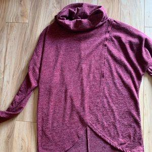 Coal neck tulip front sweater